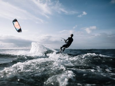One activity you can do on our sailing charter adventures is kitesurfing!