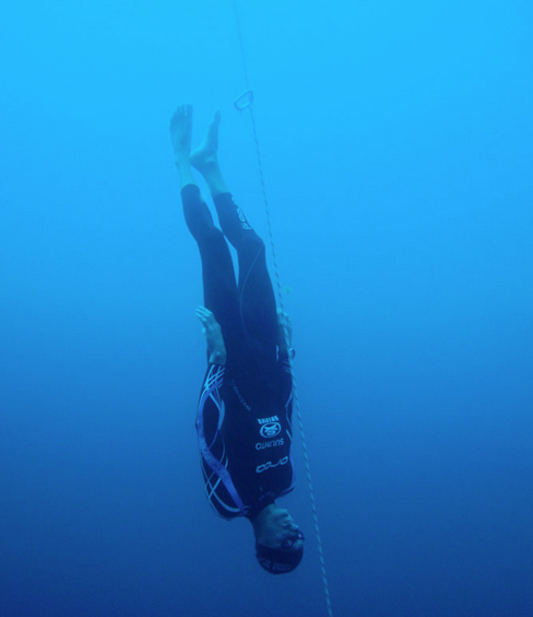 Freefall in Freediving (CNF) - William Trubridge