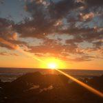 Sunset in Baja Carlifornia Sur. Freediving