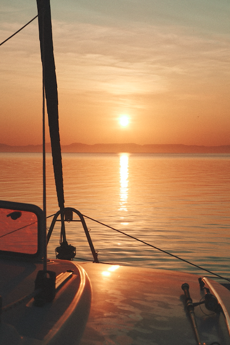 Sunset Sailing Sea of Cortez
